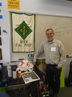 Dan Malone with the IEEE banner.